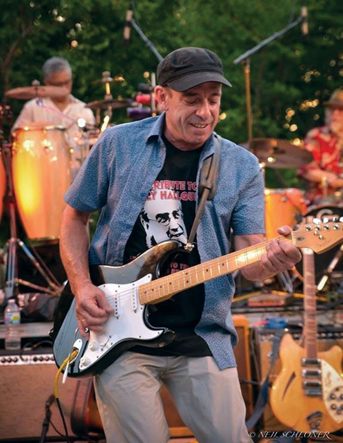 Musician Steve Grossman plays the guitar during the 2015 Salute to the Music of Bob Dylan concert in St. Louis Park. (Submitted photo courtesy of Neil Schloner)