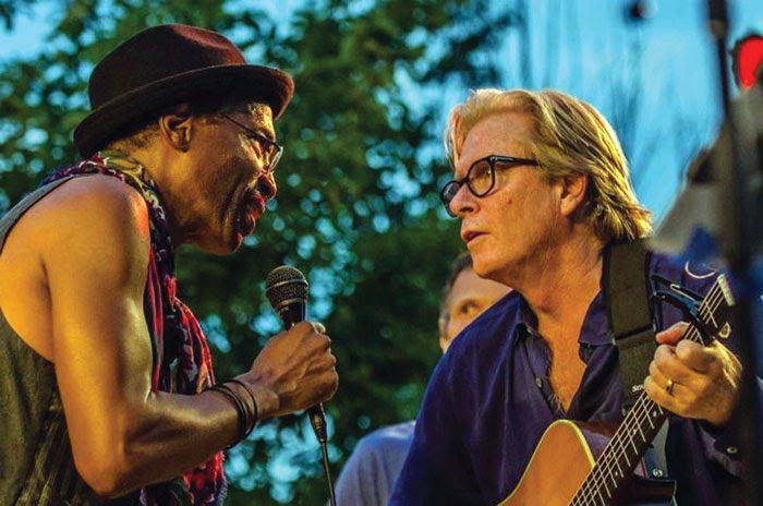 Stan Kipper, left, and Kevin Odegard perform during a Salute to the Music of Bob Dylan concert. (Submitted photo)