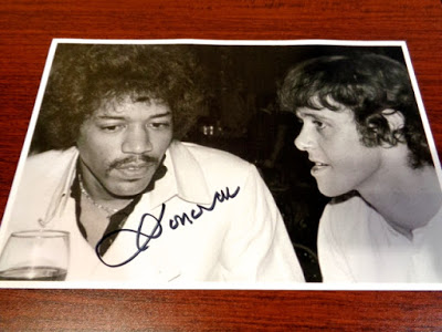 Donovan sent this signed photo of he and Hendrix.