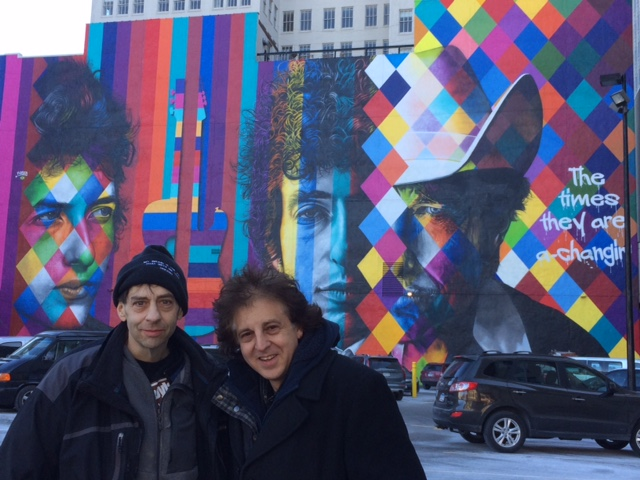 Bob Dylan Mural by Eduardo Kobra - John Bushey and Magic Marc / Downtown Auto Park / 509 Hennepin Avenue / Minneapolis, Minnesota / February 9th, 2017 / Photo by Phil Fitzpatrick