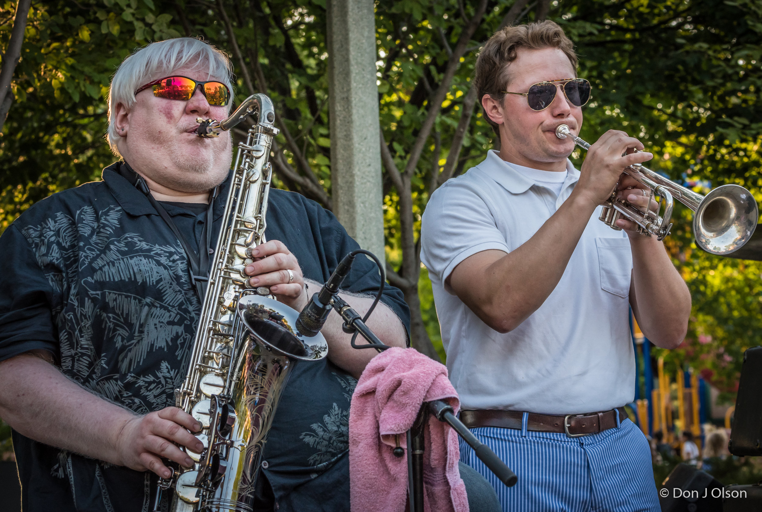 Brian Powers and Paul Odegaard / The Veterans' Memorial Wolfe Park Amphitheater / St. Louis Park, Minnesota / July 29th, 2017