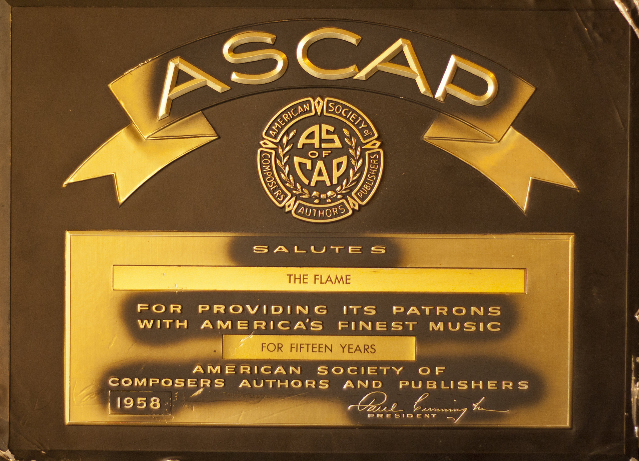 ASCAP SALUTES THE FLAME - 1958