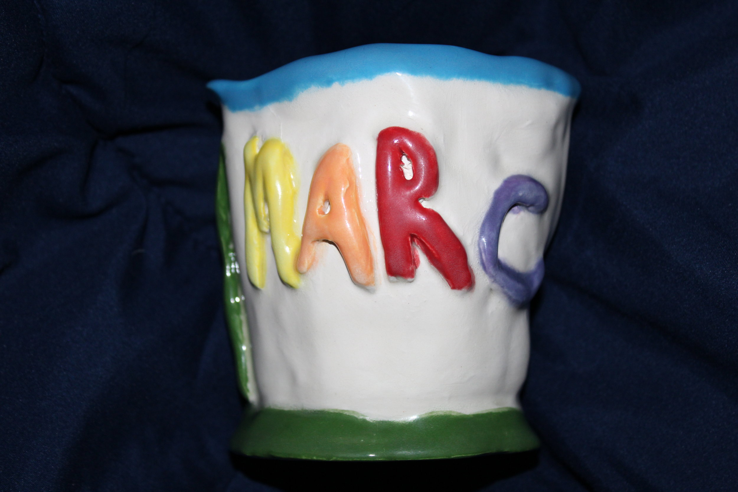 RUBY MARC - Ceramic Mug #2 by Earl Kayoss