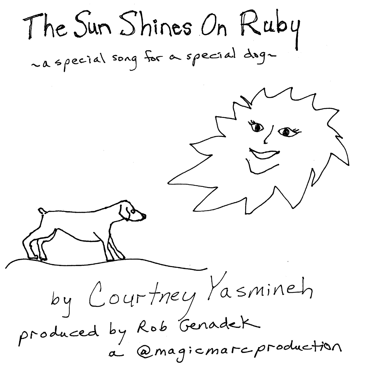 The Sun Shines On Ruby by Courtney Yasmineh - CD Front Cover.jpg