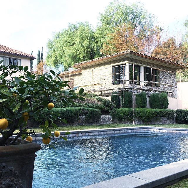 Would you believe that this is located in Orange County, California? A more peaceful setting for this multi-function guest house may not exist. In fact, when it's not housing members of a large extended family, it may also play host to lucky brides as they prepare to walk down an aisle on the property grounds! It's just getting finishing touches now.
