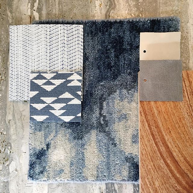 I'm am personally loving the materials for this yacht interior project I'm working on— maybe because they look right at home on my kitchen counter.. And this carpet option from Stark might be what pulls it all together!