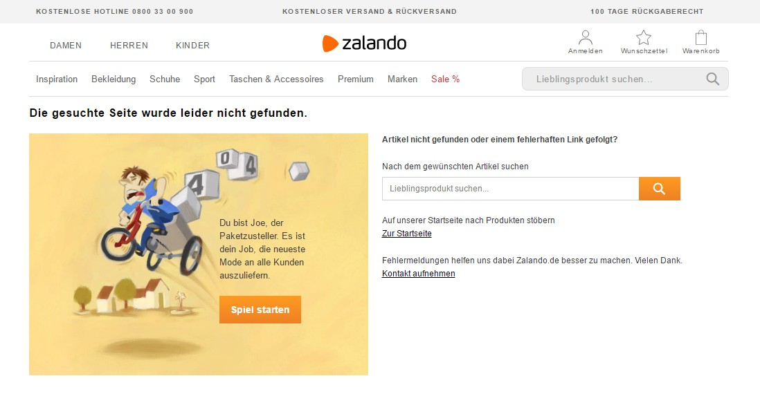 Bild: Screenshot Zalando