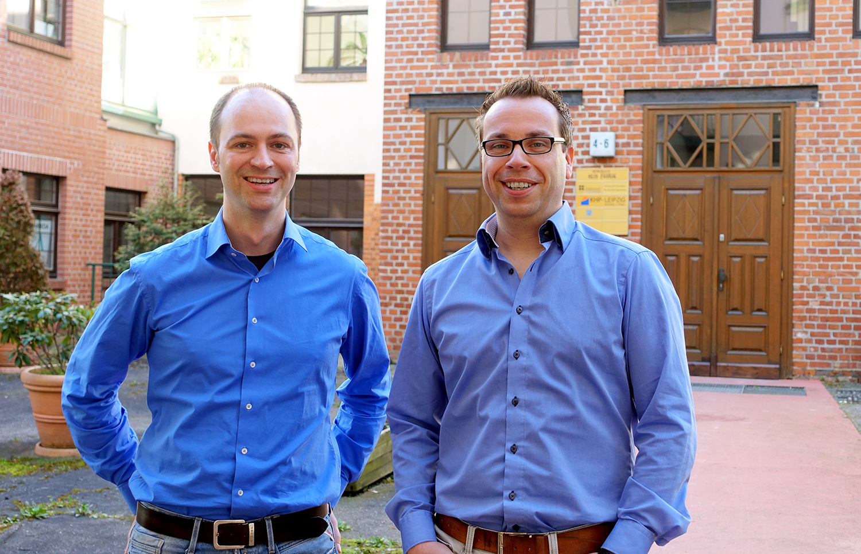 Die Gründer Michael Ablass und Steffen Drya von root360