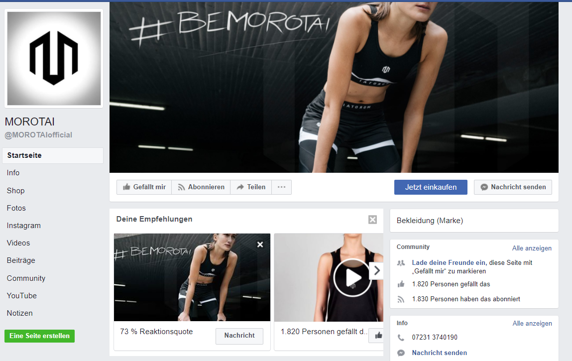 Facebook Page Morotai August 2017