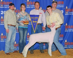 2010 Reserve Champion Finewool at the Houston Livestock Show & Rodeo   Shown by Gabe Jennings