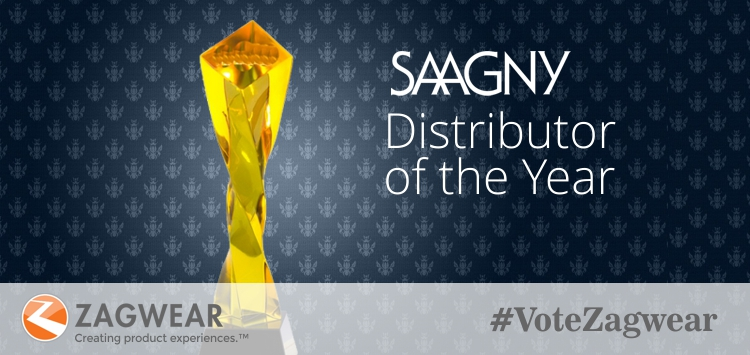 We're very honored to be a finalist for the #SAAGNY Distributor Of The Year Award, which recognizes the recipient for proactively taking accountability to resolve issues, communicating with clarity, conducting business respectfully and being progressive in helping to elevate the promotional products industry at large.  At Zagwear, we constantly strive to lead by example in our collaborative partnerships with our clients, vendors and other industry members, to be on the forefront of best practices and to simply do the right thing. If you agree with this and think we are worthy of the award, we would greatly appreciate your support by voting for us by Oct 27 at:  https://www.surveymonkey.com/r/9JK6DDV