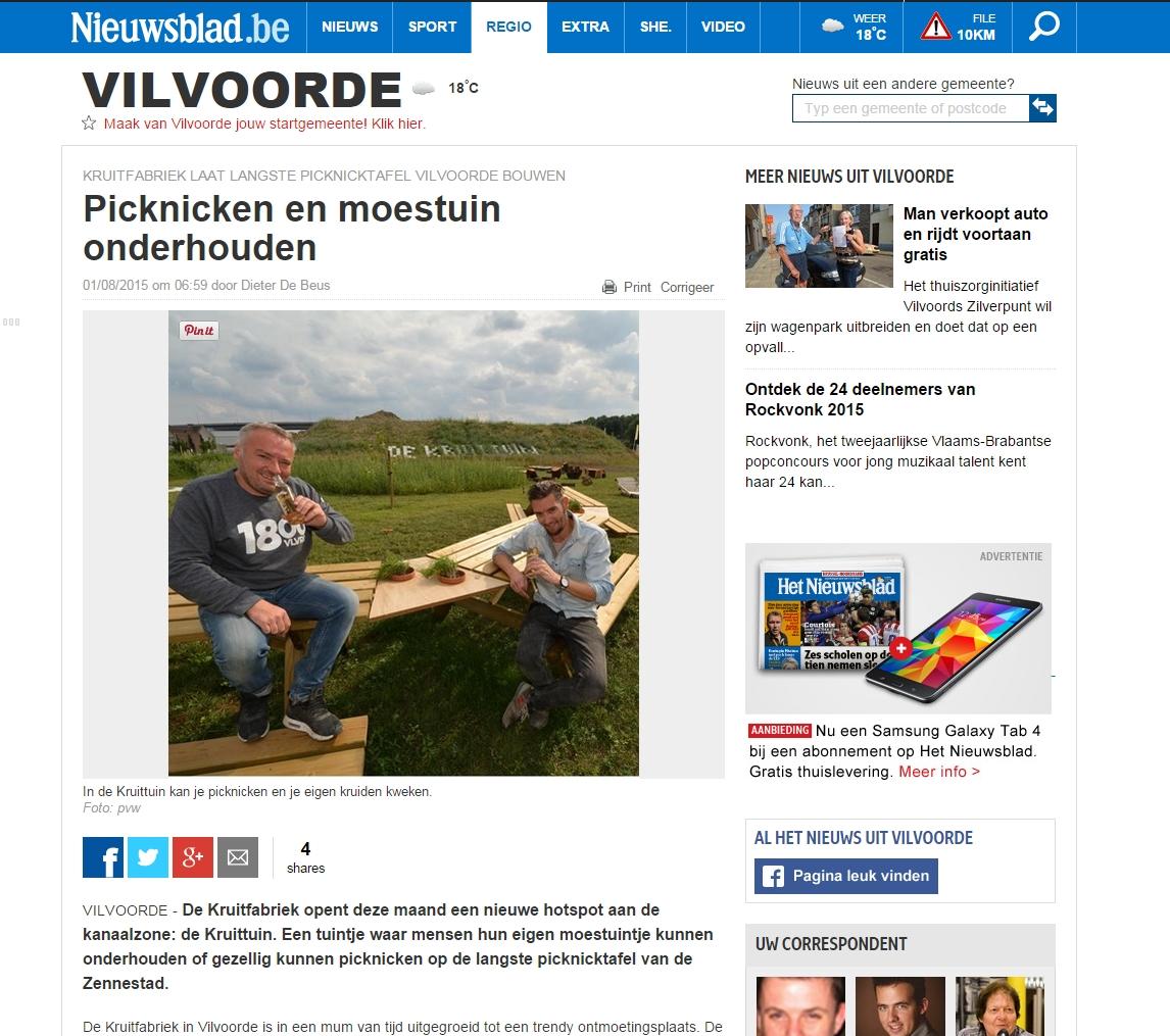 Nieuwsblad   1 augustus 2015