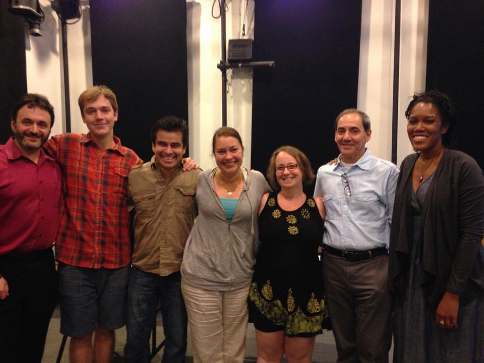 The director, playwright, and cast of  Burning .