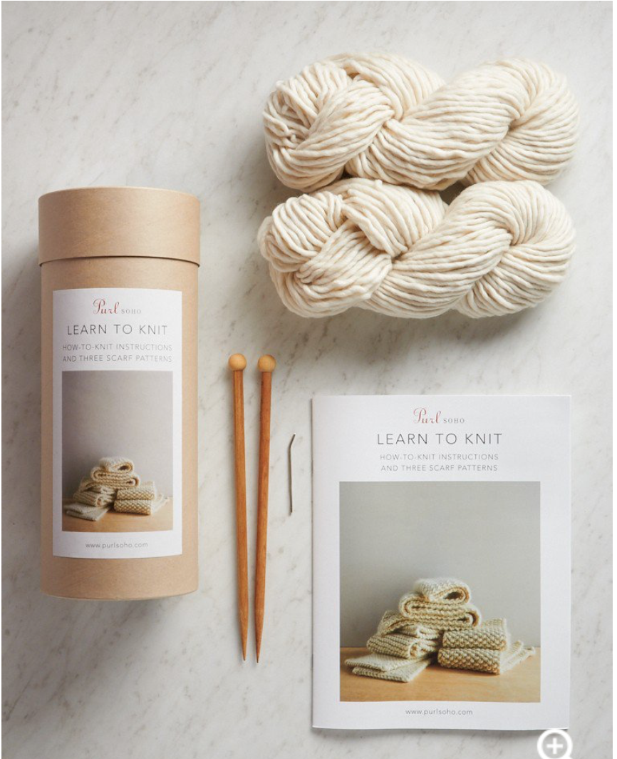 """Purl SoHo """"Learn to Knit kit"""""""