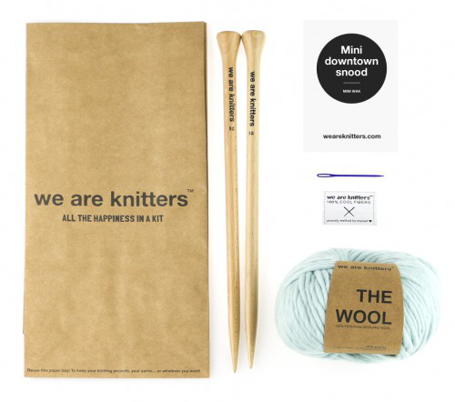 We Are Knitters Downtown Snood (infinity scarf) kit.