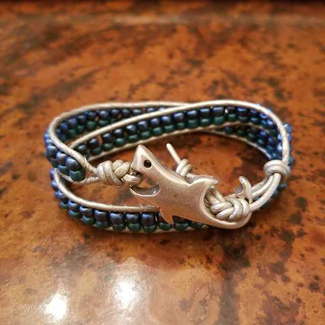Happy Monday everybody!! Well, it's been a minute since I've posted 🙄. I've kind of been on hiatus because we recently moved but I'm back! And I thought with Shark Week in full swing and school around the corner (like next week! 🙁) it's fitting to bring out the Shark Bracelet. It's the same colors and mascot as our local high school, Southside High Sharks. It's also the colors and mascot of Summer. Order yours here or online!