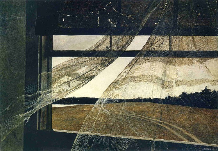 """Wind From The Sea"" by Andrew Wyeth"
