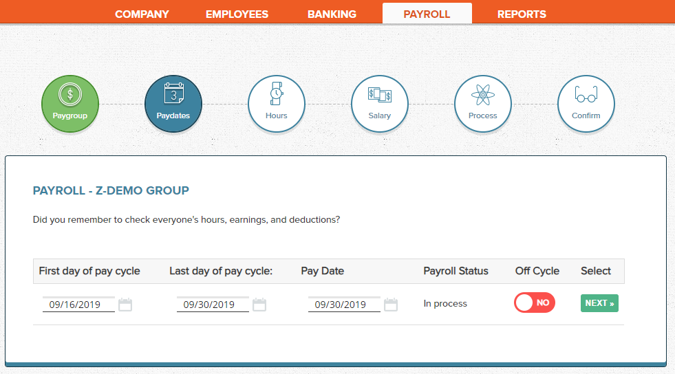 Wagepoint Pay dates