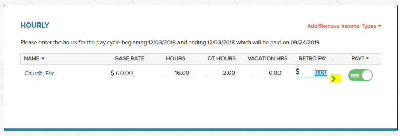 Wagepoint Hourly Income Add New Income Type