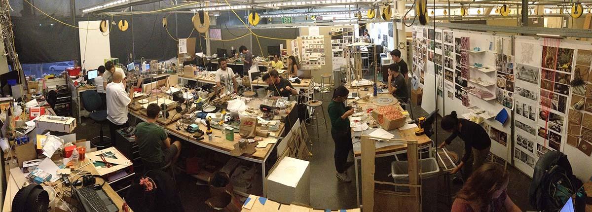 CCA Creative Architecture Machines lab studio space (Nov 2013)