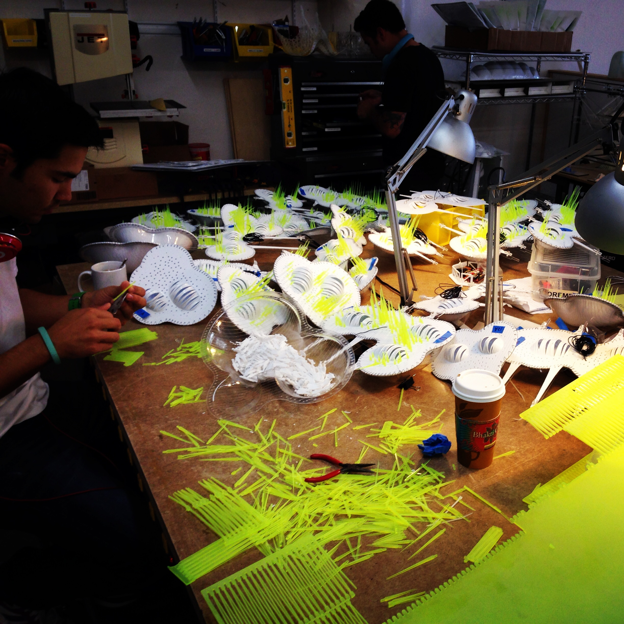 Hydraspan models in process at Future Cities Lab, San Francisco