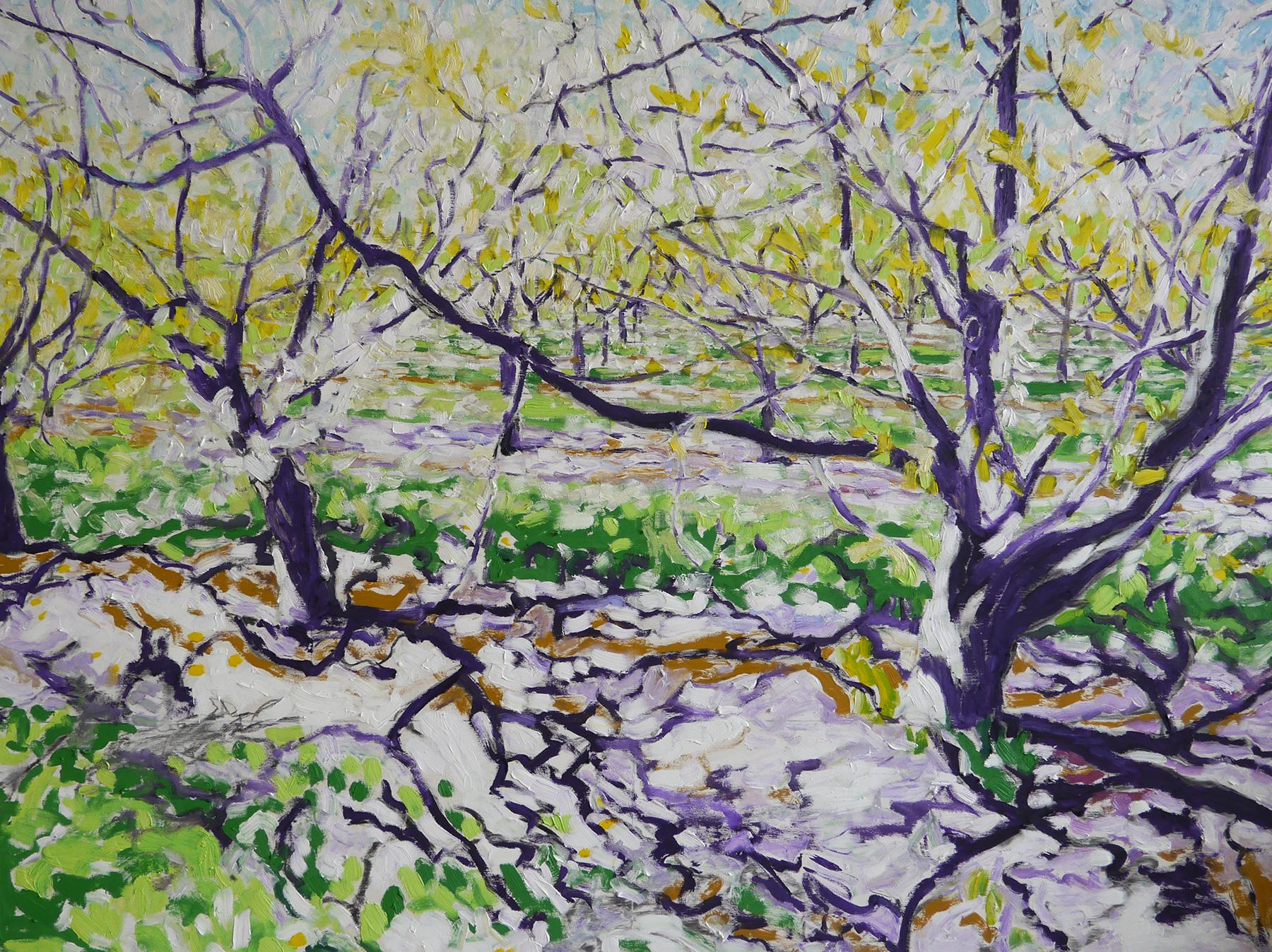 "good morning niagara  oil/acrylic on linen/panel 36"" x 48"" sold"