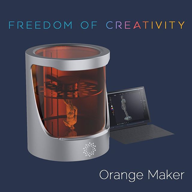 Orange Maker stands for empowerment of designers and engineers, giving you more advanced tools to #create. #creativefreedom #3dprinting #technology #hl #OM #orangemaker #helios #3dprint #design.