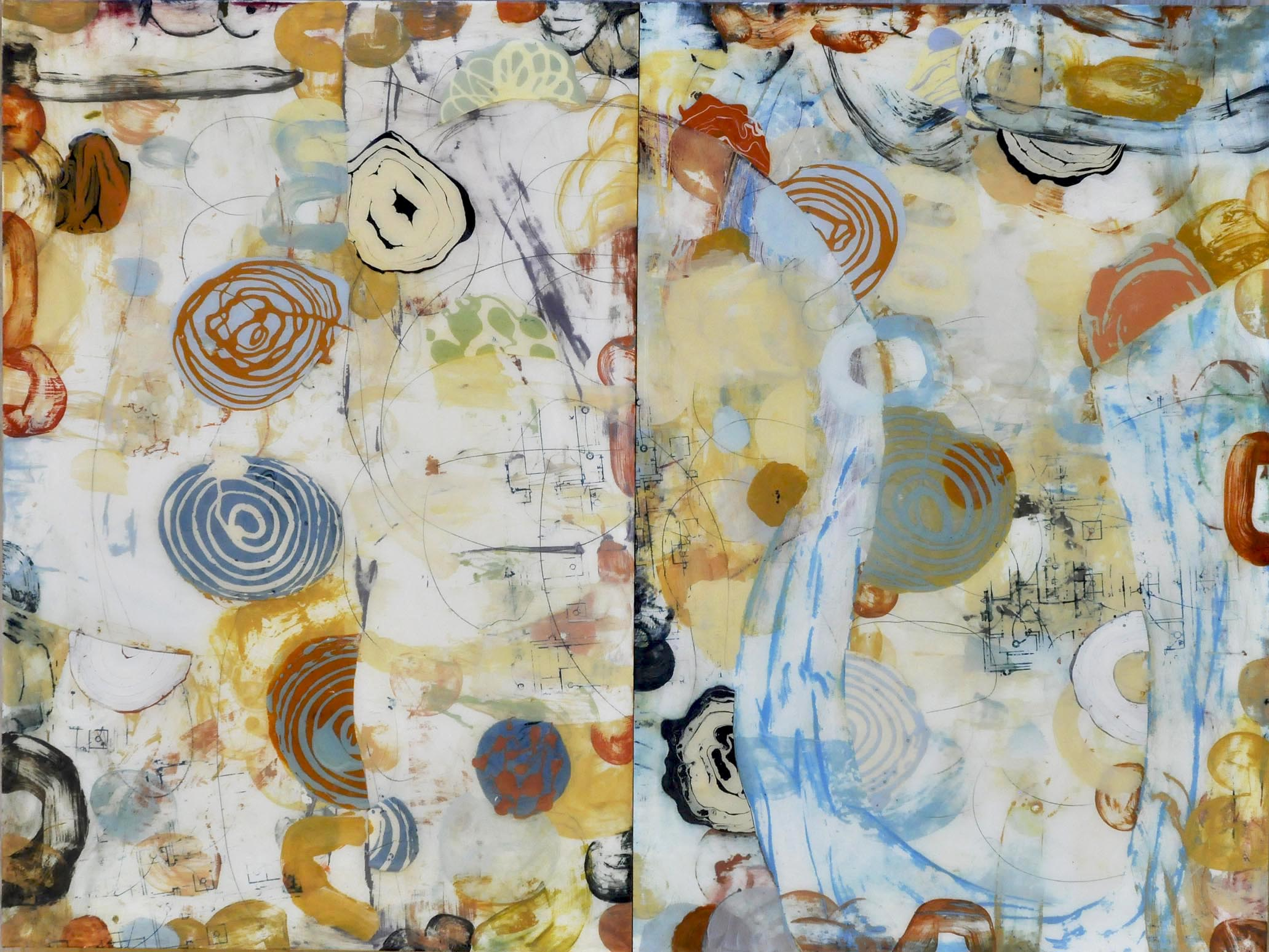 "Rolling Landscape 36"" x 48""  SOLD"