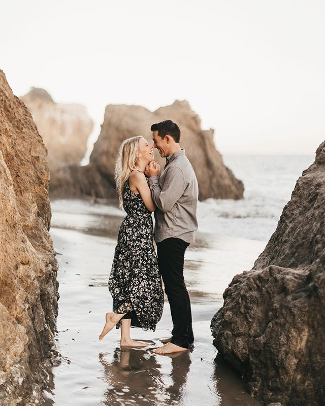 Matt & Erica at El Matador! I have always wanted to go to this beach and almost got married here. It was the perfect golden hour and we even saw dolphins!!!