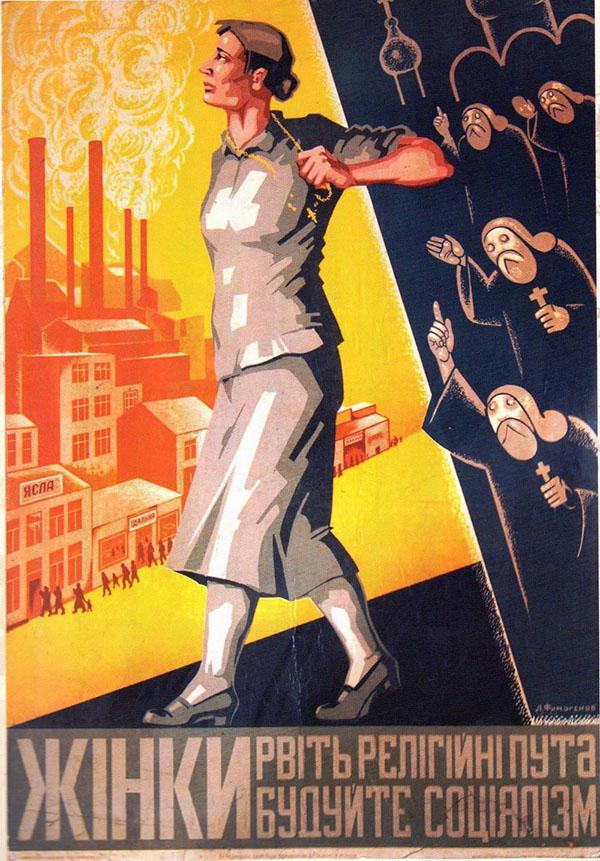 Anti-Religious Soviet Propaganda poster