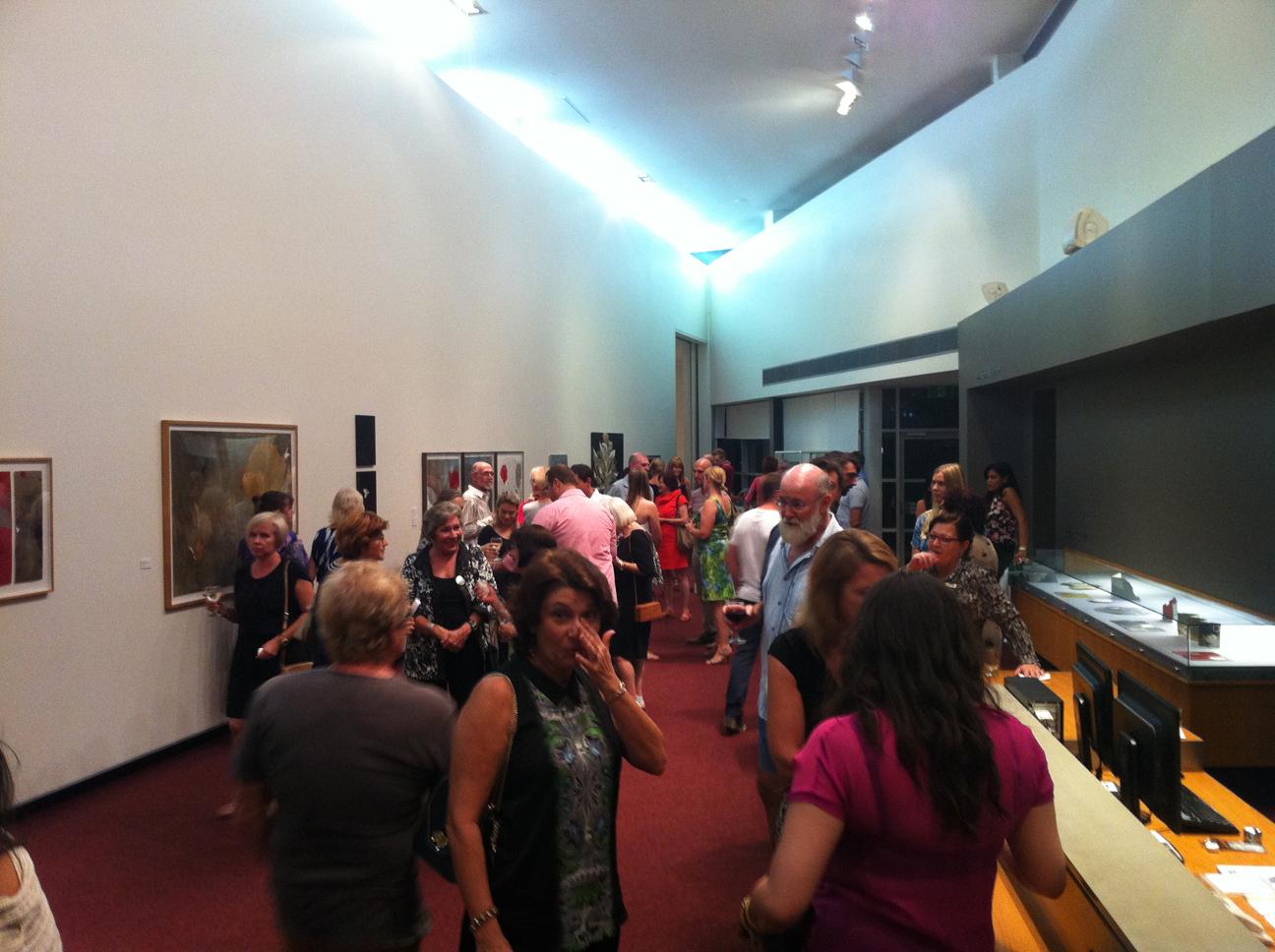Artspace foyer gallery, opening night