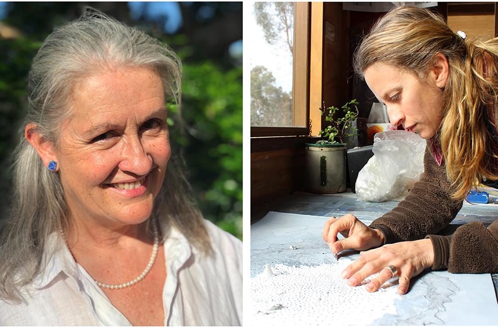 Writer Elizabeth Fortescue (left), and artist Melinda Schawel (right)
