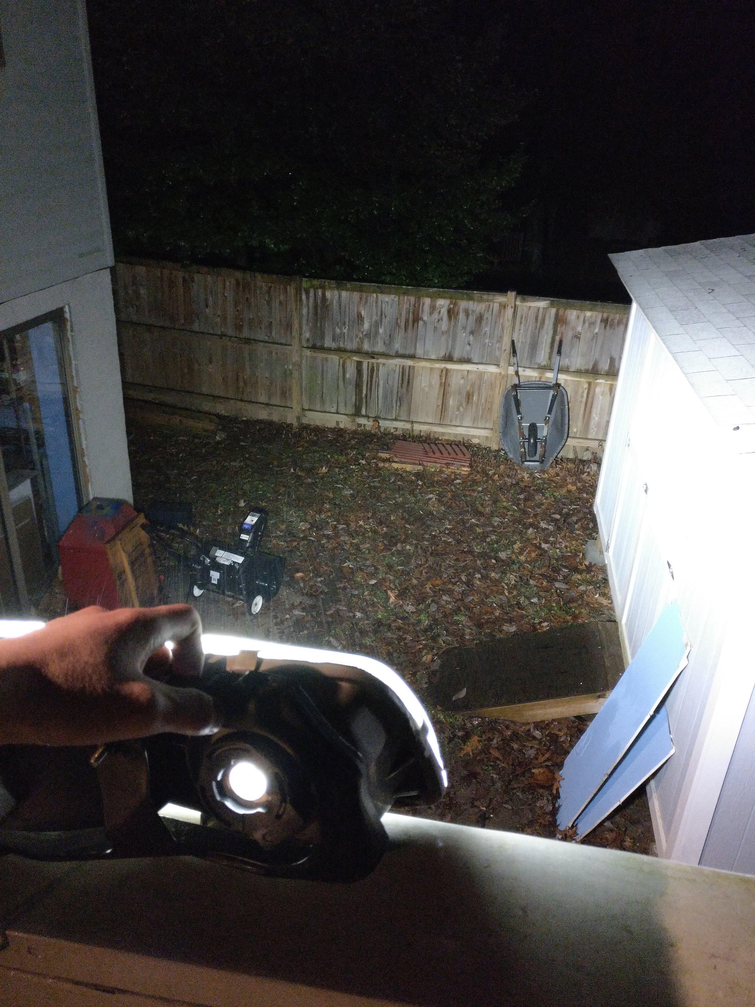 Testing range using HID bulb.