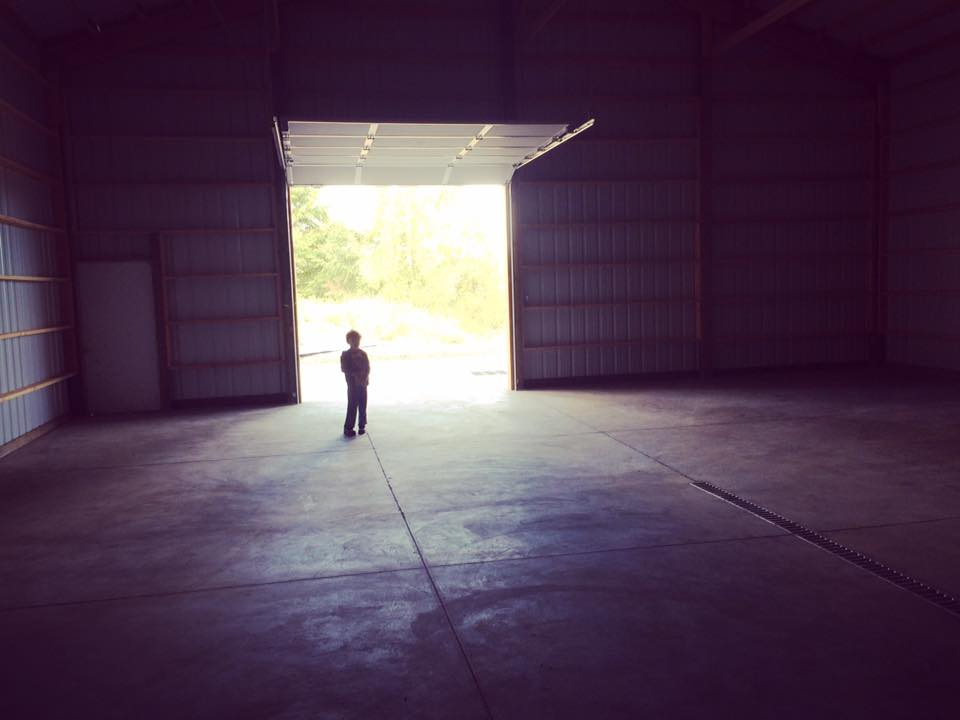 Theo in new Winery
