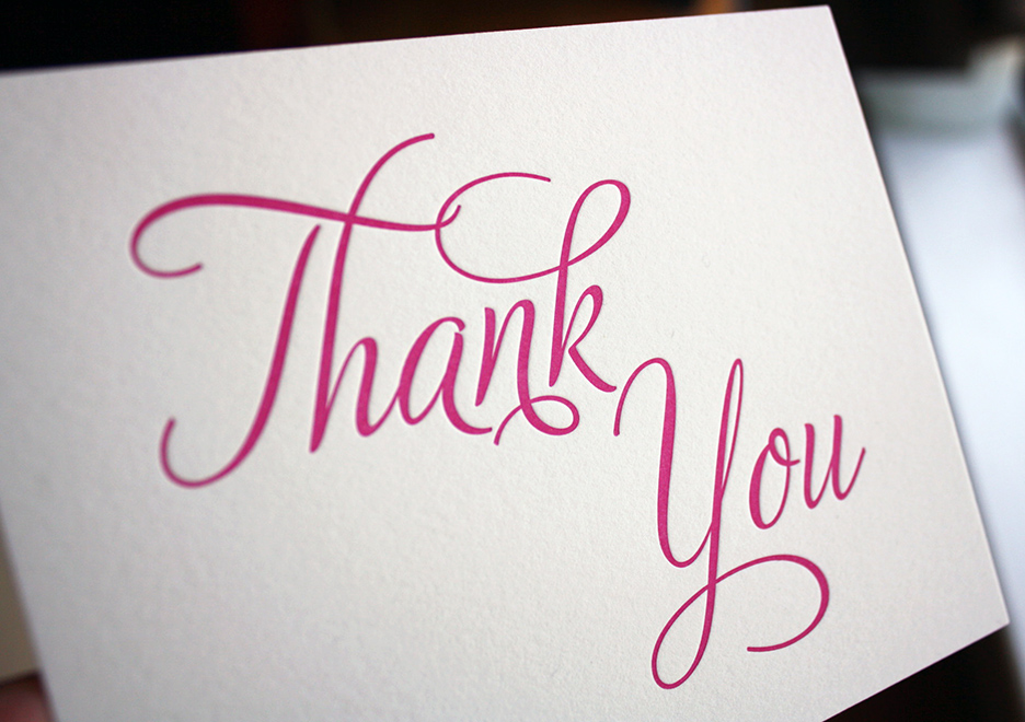 custom thank you cards for Brazilian birth gift