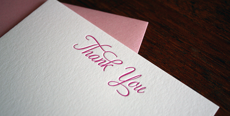 custom thank you cards for all the gifts