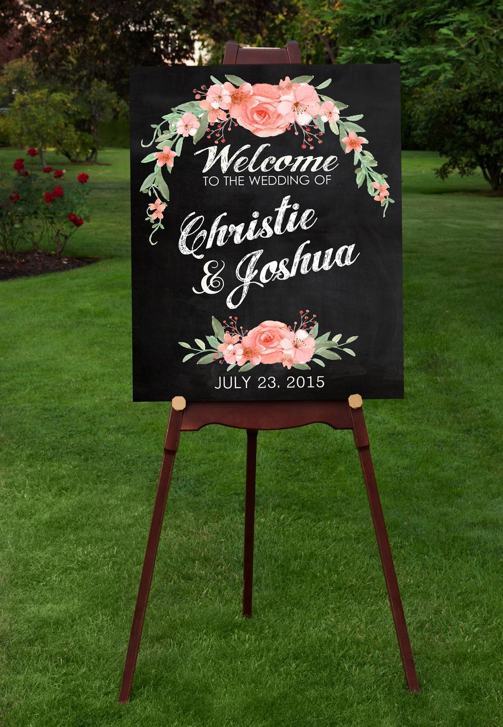 Chalkboard Wedding Signs Wedding Decor Personalized Wall Art