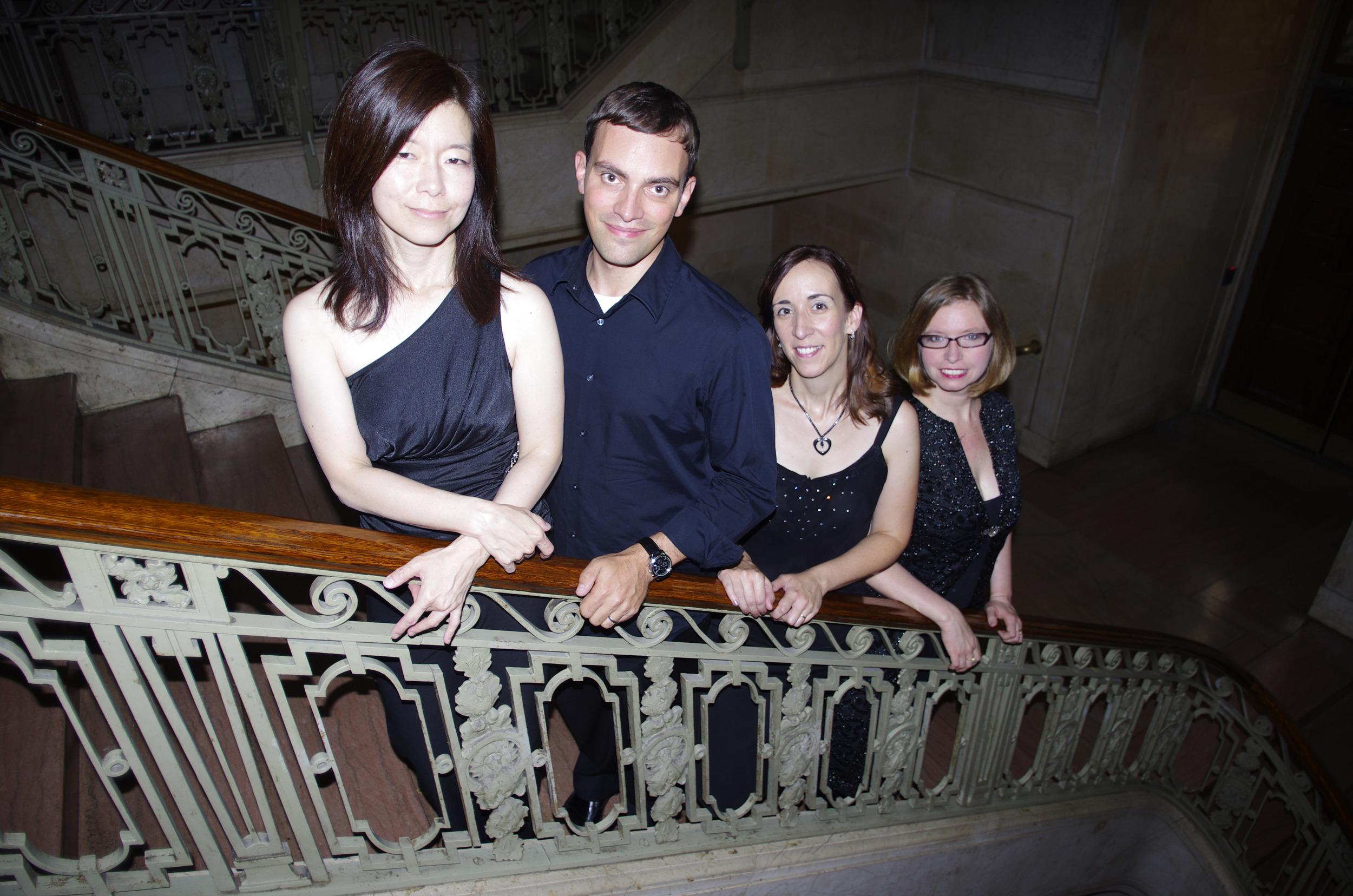 Nancy Kito (harpsichord), David Himmelheber (cello), Susan Graham (flute), Marika Holmqvist (violin)