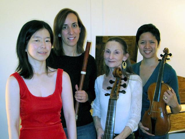 Nancy Kito (harpsichord), Susan Graham (flute), Margaret Panofsky (gamba), Rebecca Tinio (violin)