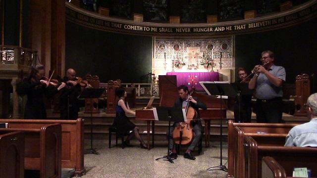 "From the T3 (""Telemann, Torelli, Trumpet"") concert on Dec. 2, 2018. Laura Giannini & Jose Pietri-Coimbre, violins: Nancy Kito, harpsichord; Keiran Campbell, cello: Dan McCarthy, viola; Curt C. Christensen, trumpet."