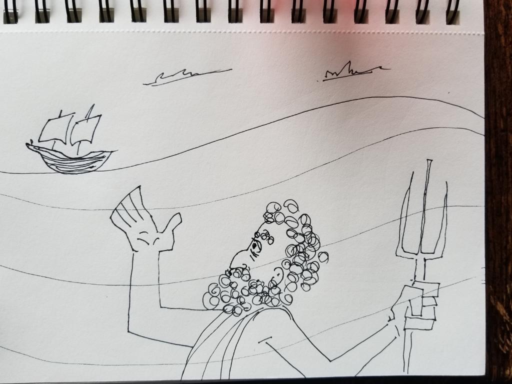 Part of Victor Varnado's storyboard…