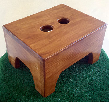 Step stool with Antique Walnut stain