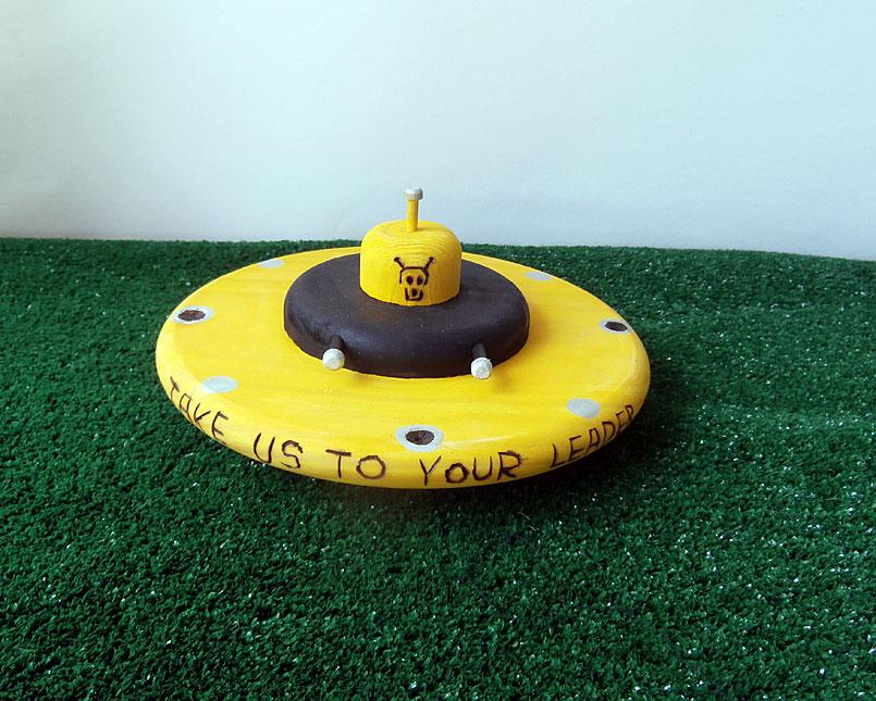 Custom flying saucer