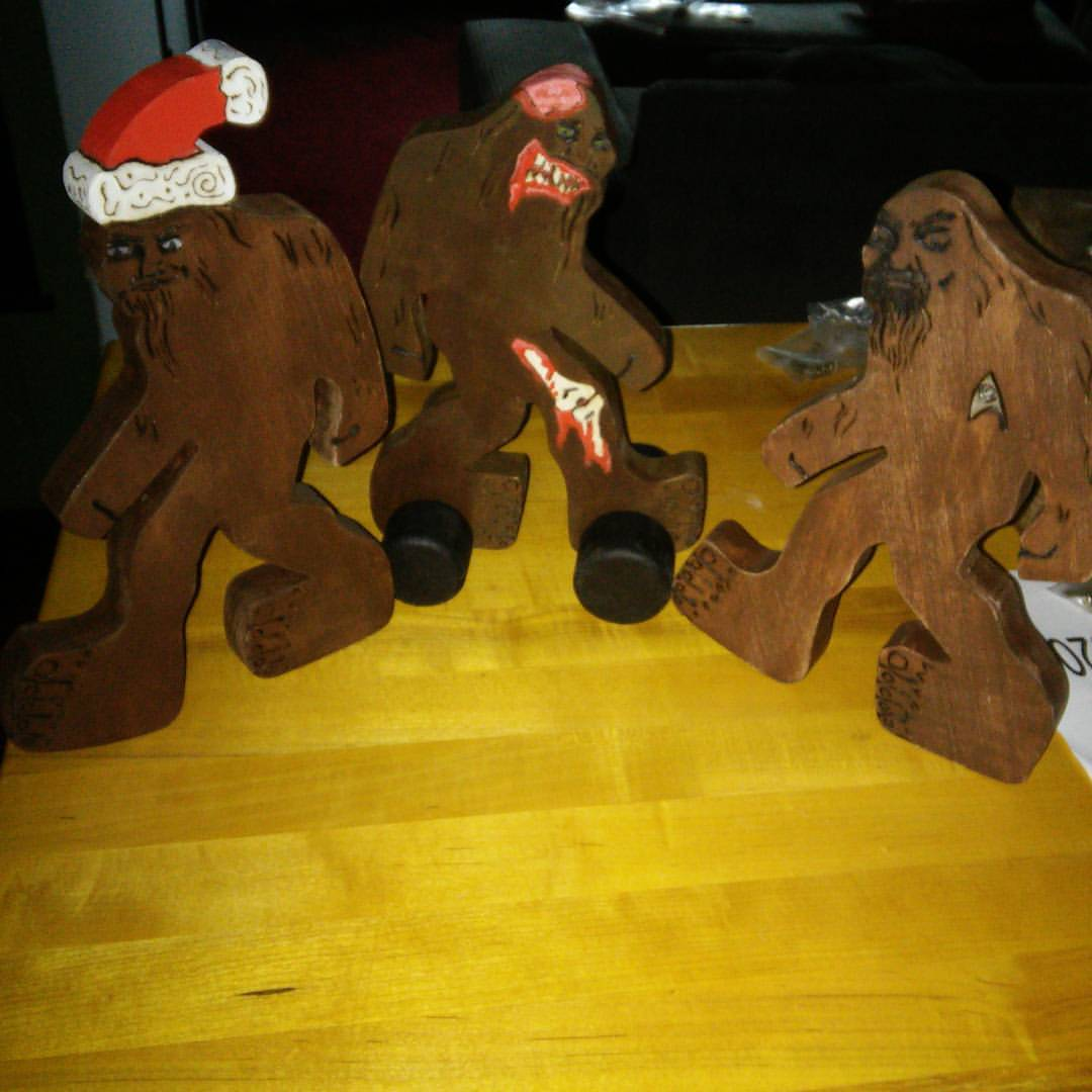 Sasquatches got kind of crazy too after a while -- zombies, Star Trek and Santa!