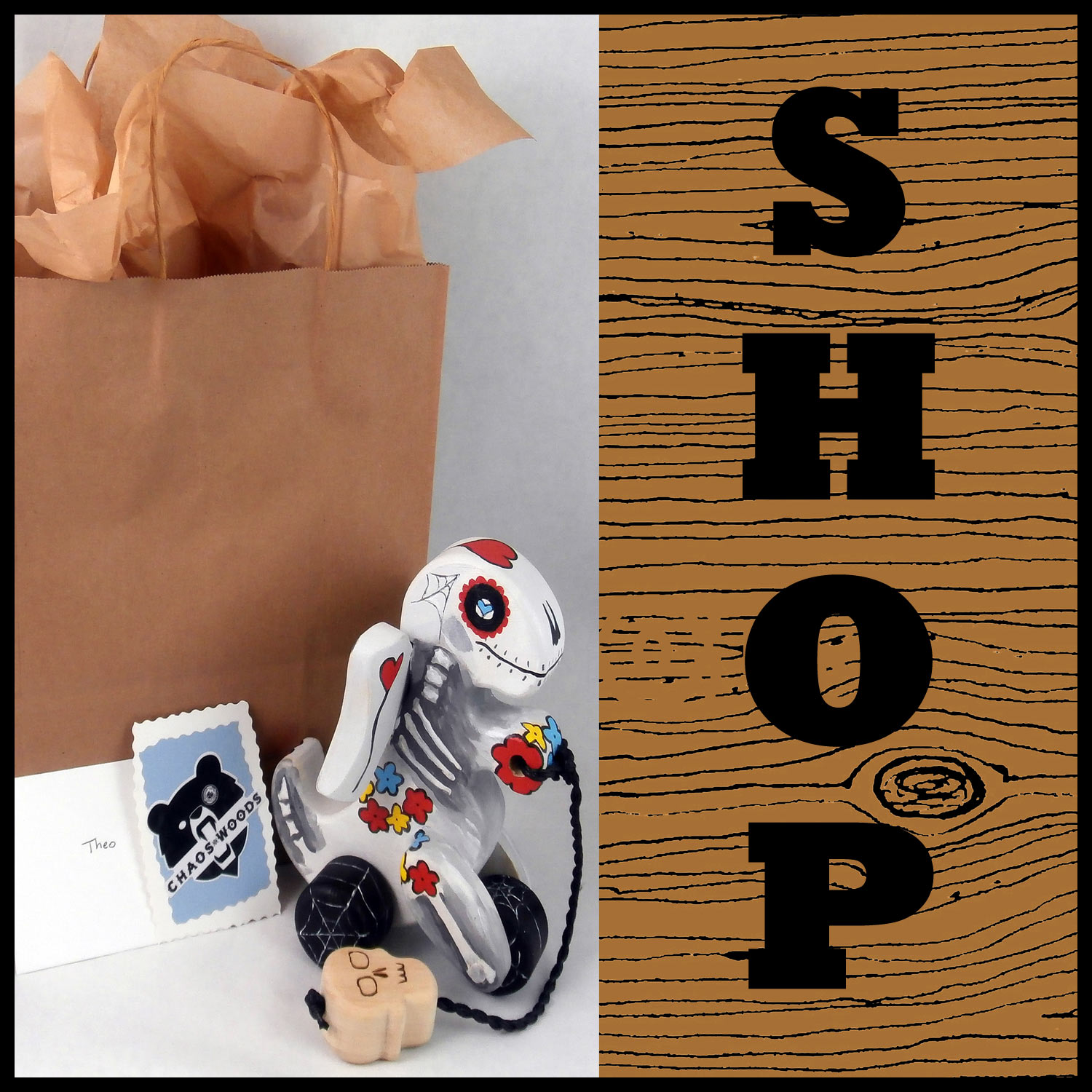 Shop: Support our small business with a purchase from our store. If you see something you like, it's probably for sale.