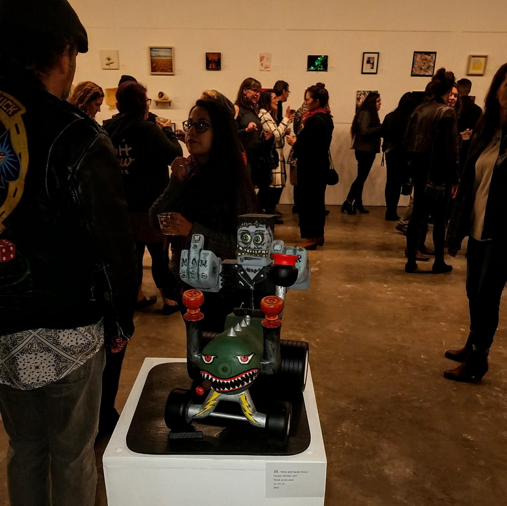 Franken' Bomber on display at the East Austin Studio Tour exhibit in 2017.