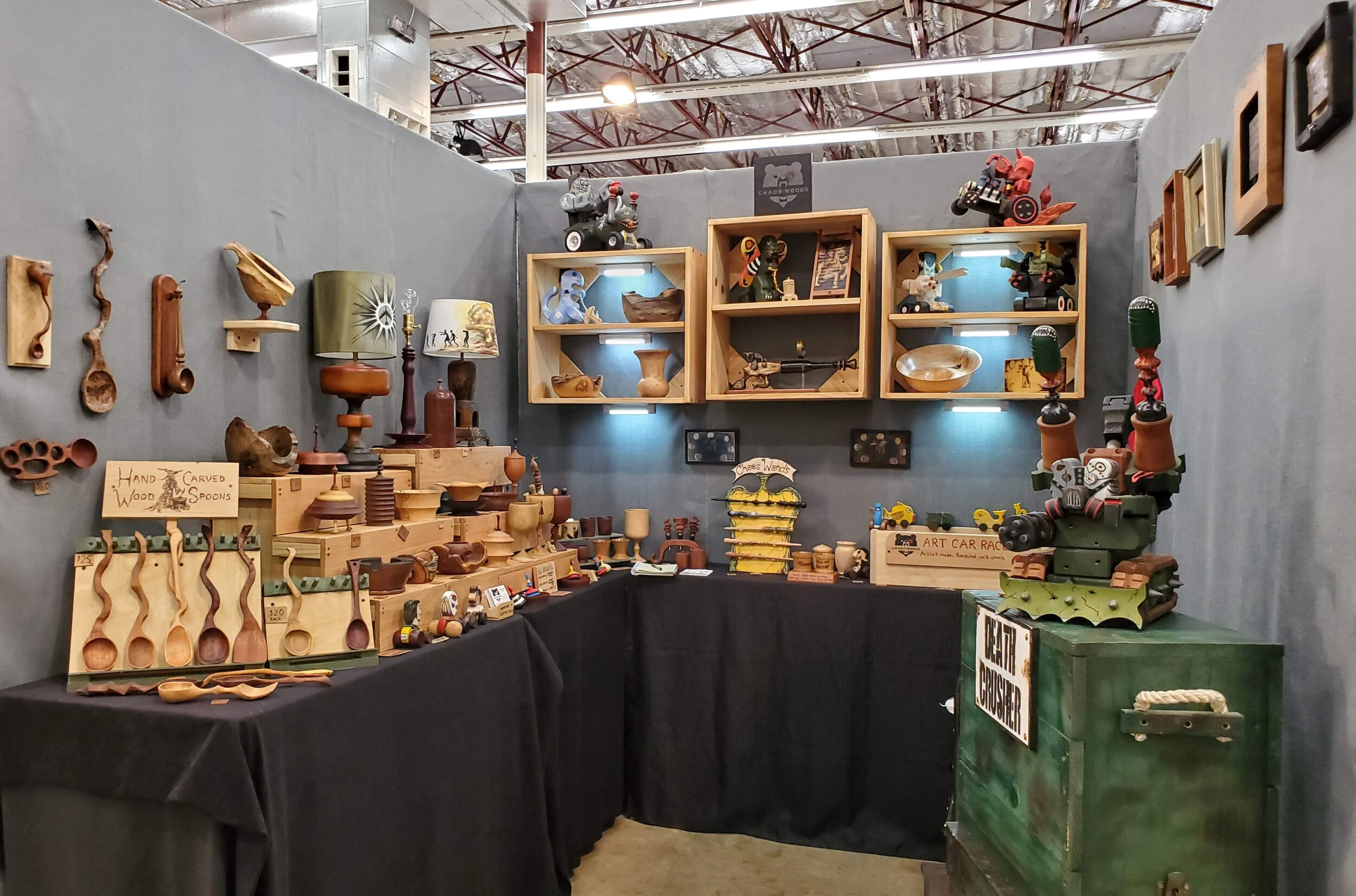 Booth set up during the West Austin Studio Tour (WEST).