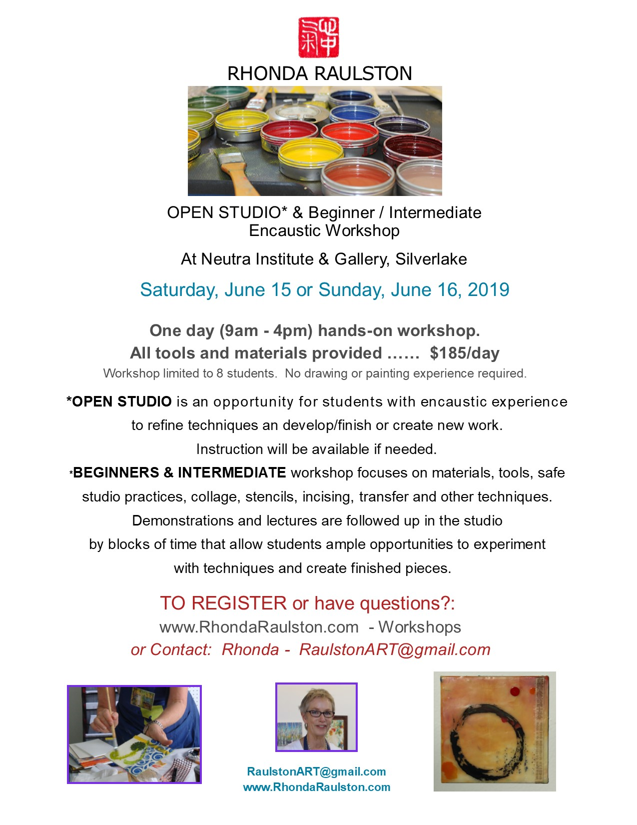 2019 - May encaustic workshop at Neutra.jpg
