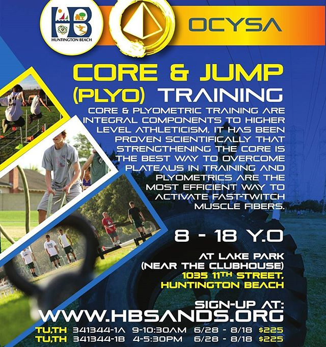 ASK ABOUT OUR TEAM SPONSORSHIPS!!! EARN UP TO 25% BACK FOR YOUR TEAM!!! ========================== SPEED & AGILITY *PLYOMTRICS & JUMPS * CORE & STRENGTH for Football, Soccer, LaCrosse, Basketball, Wrestling, Baseball, Softball, etc. ------------------------------------------------- SIGNUP: www.hbsands.org Search for Activity#: 341339 ========================== NOW AND ALL SUMMER LONG!  OCYSA is an HB-based 501c3 Non-Profit serving youths regardless of economic status. Tutoring-Wrestling-Judo-Speed-Agility-Core 949-439-6156 ocysa4youths@gmail.com  #fastfeet #footwork #youthtrack #speedwork #corestrength #plyometrics #jumps #youthsports #speedandagility #tracknation #soccer #football  #lacrosse #aysosoccer #hbsands #aysoregion56 #hbpwf #hbpopwarner #huntingtonbeach #huntingtondaily #surfcityusa #hbcult #hbculture #lakepark #downtownhb  #ocysa #ocysalife #huntingtondailylife