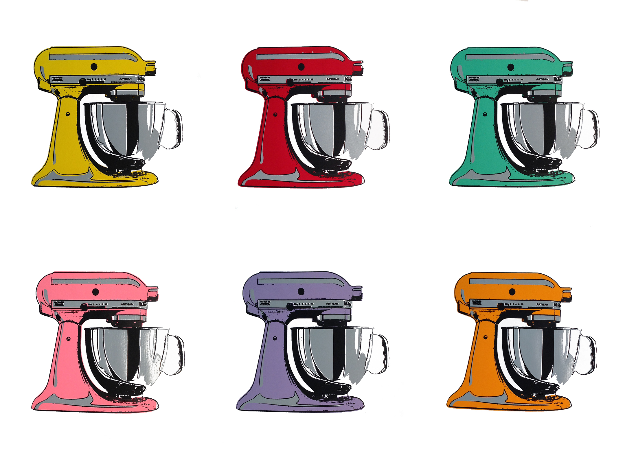Kitchen Aid Mixers, Set of Six. Limited Edition (Batedeiras KitchenAid, Conjunto de Seis, Edição Limitada
